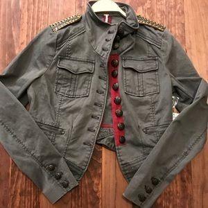 Free People Shrunken Officer Military Jacket NWT